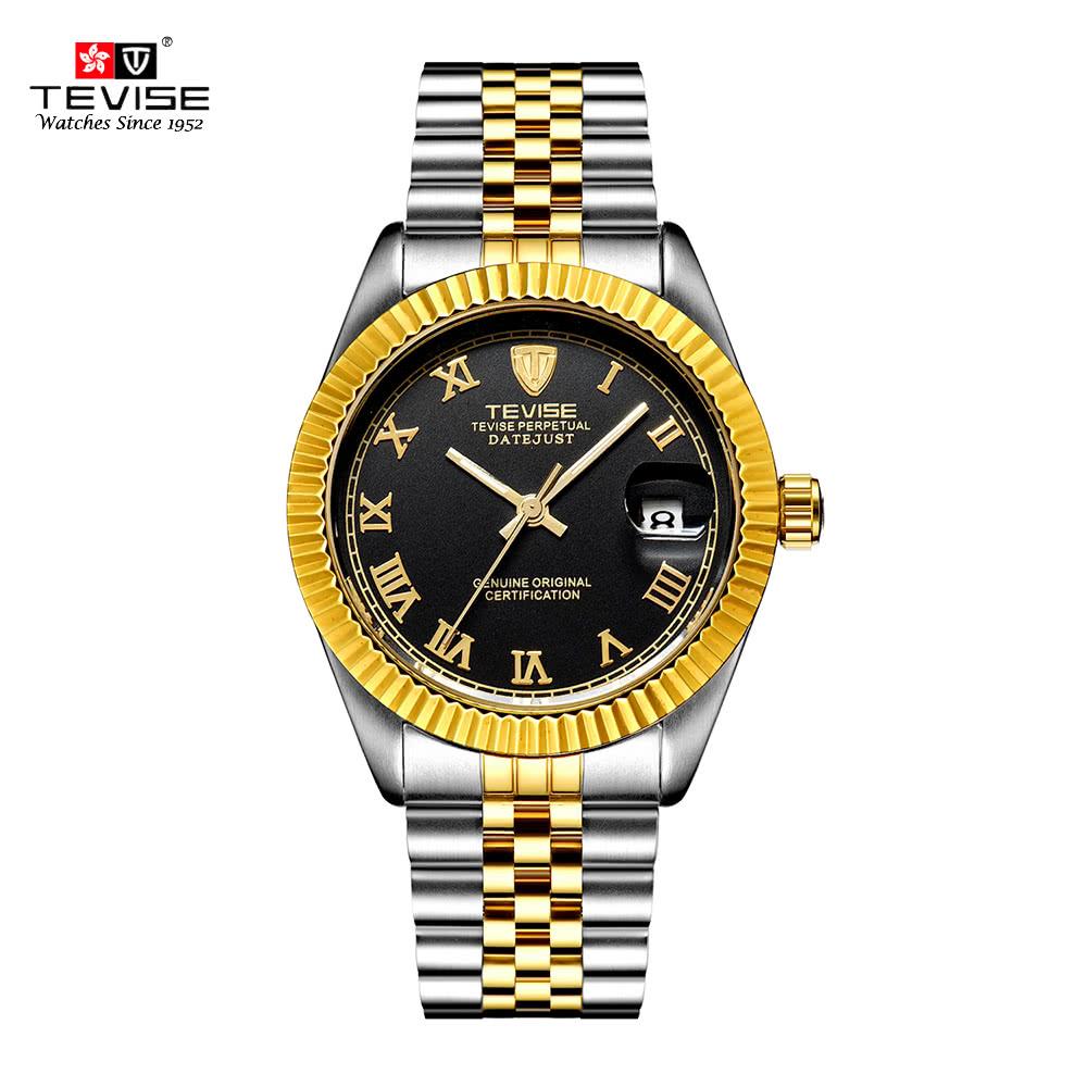 TEVISE Men Automatic Mechanical Watch Luminous Sport Casual Watches Top Brand Watch Fashion Luxury Wristwatch Waterproof