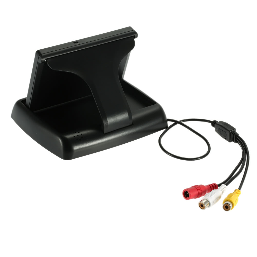 4.3 Inch Pop-up TFT LCD Monitor Wireless Video Transmit Car Rear View Backup Reverse System + Night Vision Camera Kit