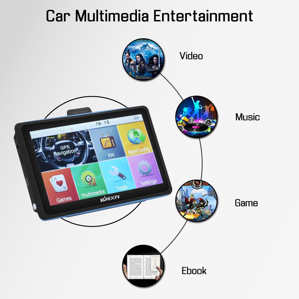KKMOON 7inch HD Touch Screen Car Portable GPS Navigator 128MB 8GB FM