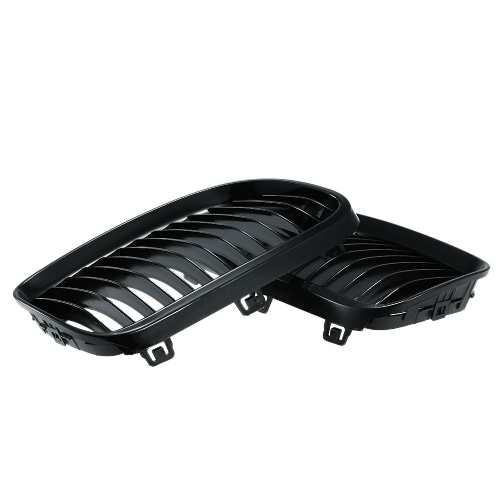 One Pair Front Center Wide Kidney Hood Grilles Stoving Varnish Black Grill for BMW E92/E93 2010 2011 2012 2013 2014 2015