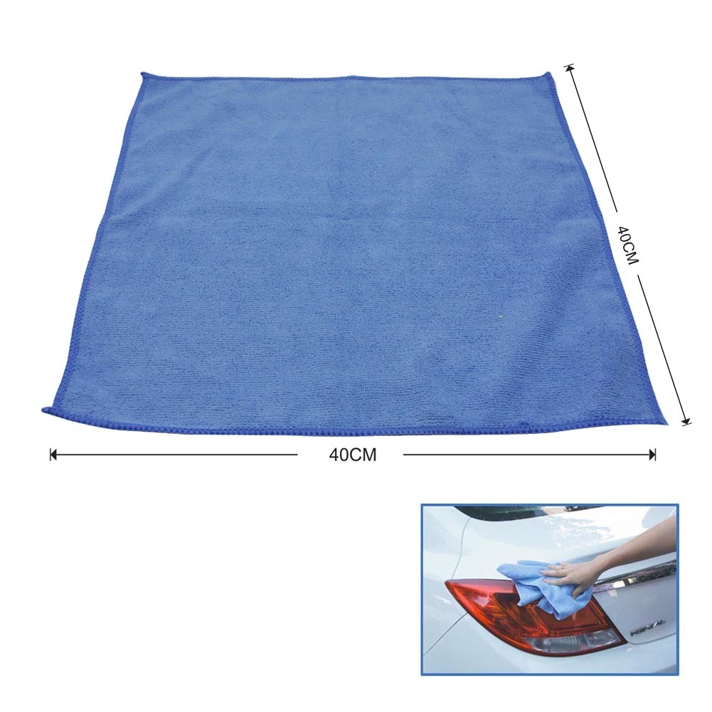 12PCS Microfiber Car Cleaning Towel Cloth Multifunctional Wash Washing Cloths 40*40cm Yellow & Blue