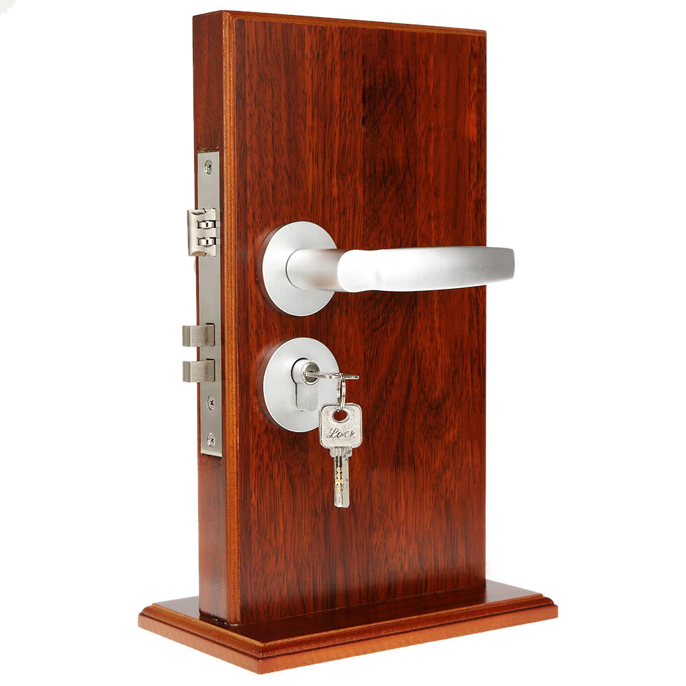 lock interior handle double latch bathroom bedroom turn button 3 keys