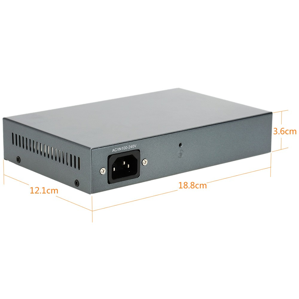 4 Port 100Mbps IEEE802.3at POE Switch/Injector Power over Ethernet for IP Camera VoIP Phone AP devices 104POE-M-AT