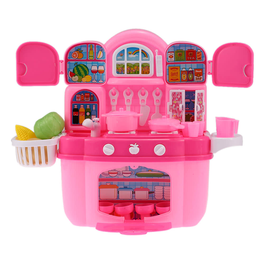 Colorful Kitchen Play Set Happy Cook Children Kids Toy