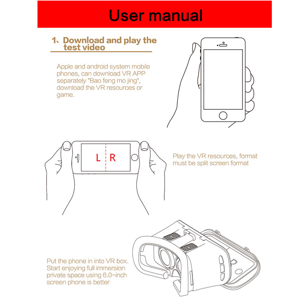 Private Vr Virtual Reality Glasses H End 6 20 2020 140 Am Case Ih Wiring Schematic 1822 Headset 3d Diy Movie Game With Magnetic Switch