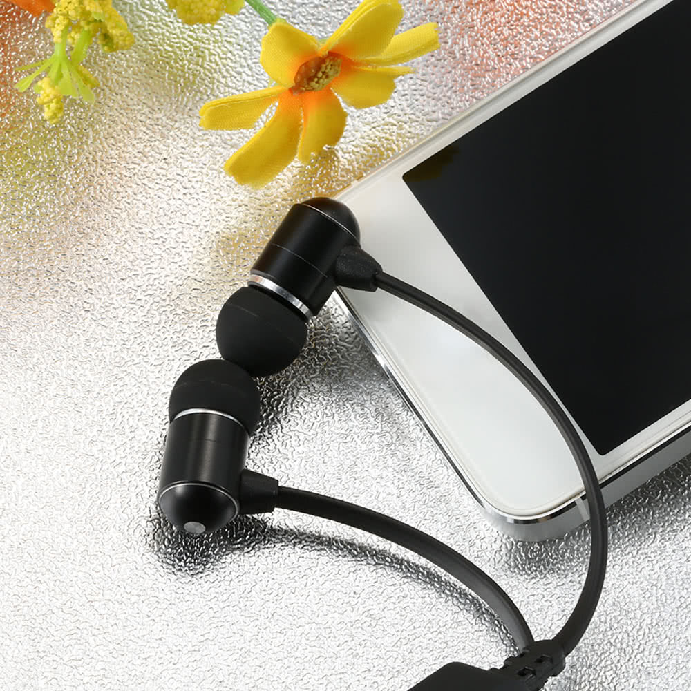 BH-06 Wireless Bluetooth Stereo Headset In-ear Sport Sweat-proof Bluetooth 4.0 + EDR Music Earphones Hands-free w/ Mic Black for iPhone iPad Samsung HTC Laptops Tablets All Bluetooth-enabled Devices