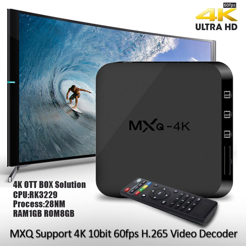 Mxq 4k Smart Android Tv Box Android 4 4 Rk3229 Quad Core