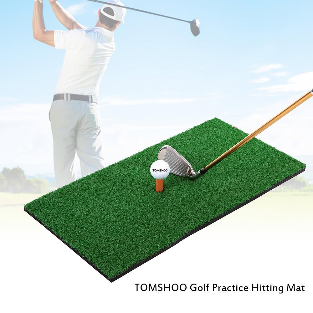 TOMSHOO 60*30cm Golf Mat Residential Practice Hitting Mat