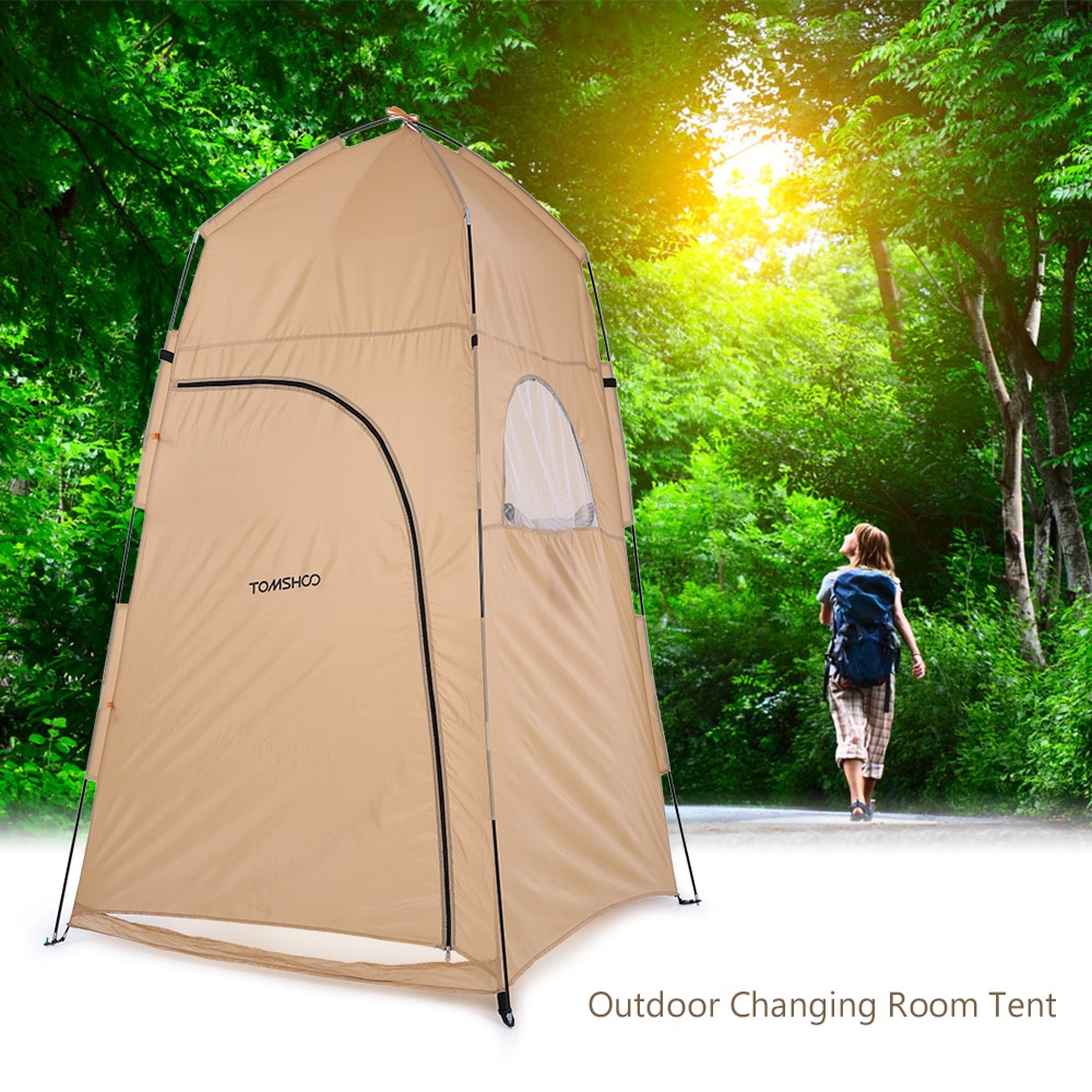 tomshoo portable outdoor shower bath changing fitting room tent shelter camping beach privacy. Black Bedroom Furniture Sets. Home Design Ideas