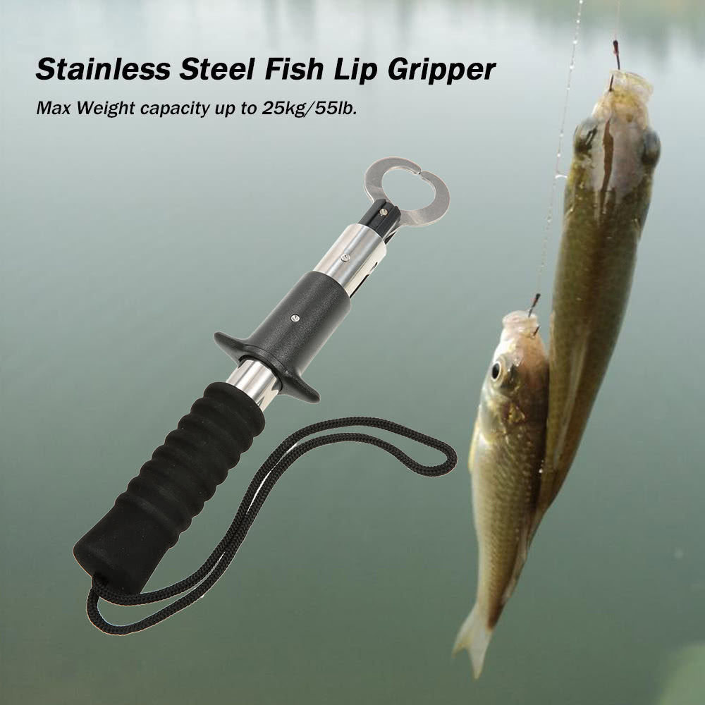 Portable stainless steel fish lip for Fishing tool holder
