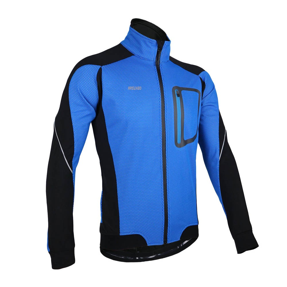 Arsuxeo winter warm thermal cycling long sleeve jacket for Craft mountain bike clothing