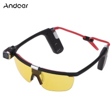 Andoer Sunglasses Handsfree Eyewear Wearing Action Sports Camera Camcorder Video Recorder DV DVR HD 1080P 30 FPS 140° Wide Angle Wifi Smartphone APP Remote Control with Mic for iPhone Samsung IOS Android
