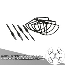 2 Pairs CW/CCW Propellers and Protective Guards Kit for XK Stunt X350 RC Quadcopter