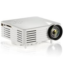 Portable LED Video TV Beamer Projector for Home Theater Cinema Multimedia Player with HDMI /AV/VGA/SD/USB White EU Plug