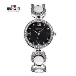WEIQIN Brand Luxury Watch Women Rhinestone Quartz Bracelet Girl Party Dress Watch Clock Wristwatches