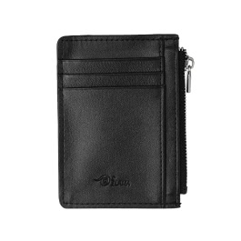 Men Wallet Money Coin Bag Zipper ID Card Holder PU Leather Business Male Wallet Black/Brown