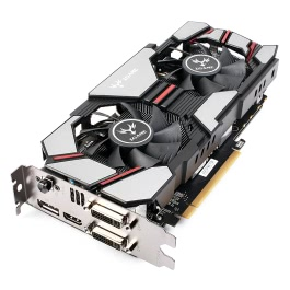 Colorful 2048MB NVIDIA GeForce GTX960 GPU 2GB 128bit 2*DVI+HDMI+DP Port DDR5 PCI-E X16 3.0 Video Graphics Card with Dual Cooling Fan