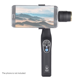 Lightweight ABS 2 Axis Handheld Brushless Stabilizer Gimbal Bluetooth Remote Control Adjustable Clip with 1/4″ Screw Hole for iPhone Samsung BlackBerry Xiaomi Smartphone
