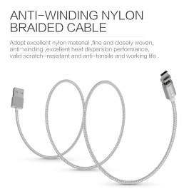 Original Wsken Mini 2 Micro USB Metal Magnetic Charging Cable USB 2.0 Intelligent Data Sync Charger Cord Quick Charging with LED Status Display for Samsung S7 S6 Edge HTC Motorola Nokia Xiaomi Android Smartphones Tablets