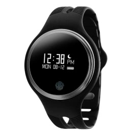 E07 Smart Watch 0.96″ OLED Screen for IOS 7.0 Android 4.3 Bluetooth 4.0 or Above Smartphone GPS Motion Trail Bicycle-riding/ Running Mode Call Reminder Sleep Monitoring Music/ Camera Control Phone Location
