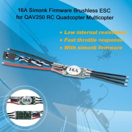 4Pcs 16A Simonk Firmware Brushless ESC Electric Speed Controller for QAV250 RC Quadcopter Multicopter