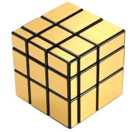 Original Shengshou 3 * 3 * 3 Mirror Magic Cube Cubo Wire Drawing Style Cast Coated Puzzle Speed Twist Educational Toy Gold