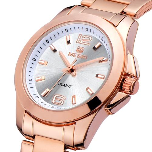 MEGIR Uhren Frauen Armbanduhren Mode lässige Marke Quarz-Uhren