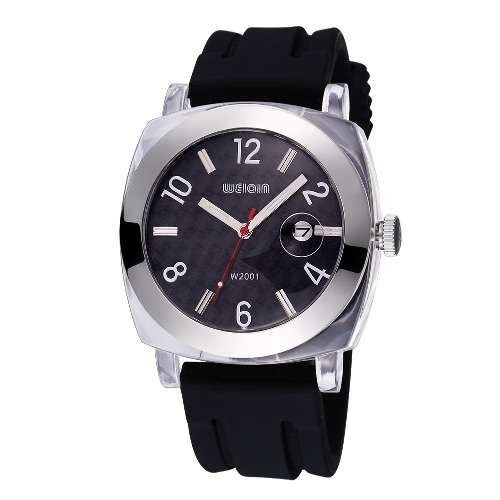 WEIQIN Auto Date Man Brand Watches Shock Waterproof Silicone Strap Military Outdoor Casual Watches Quartz Watch