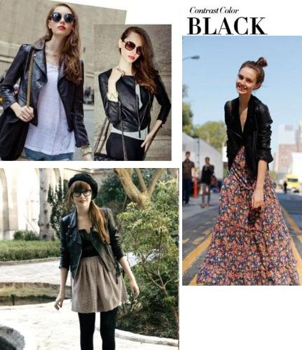 Buy Winter Women Motorcycle Leather Coat Jacket S-XXL size Diagonal Zipper Short Outerwear Coats