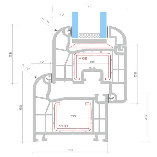 2 Fach Verglast Drehkippfenster PVC linksseitig Griff 500x750mmIndoor furniture<br>2 Fach Verglast Drehkippfenster PVC linksseitig Griff 500x750mm<br><br>Blade Length: 1.0cm