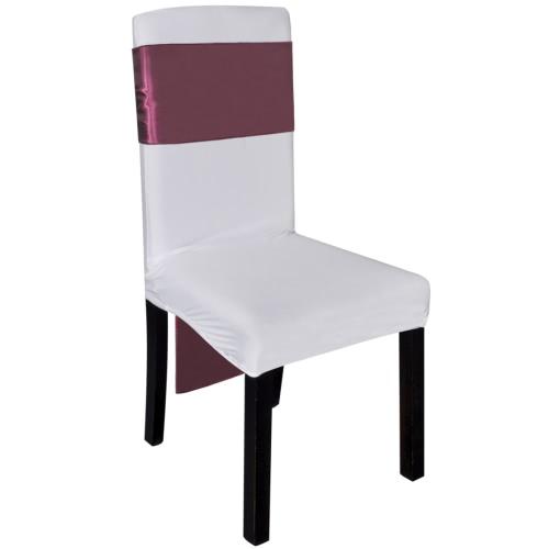 25 pcs Bordeaux Satin Decorative Chair SashHome Textile<br>25 pcs Bordeaux Satin Decorative Chair Sash<br><br>Blade Length: 1.0cm