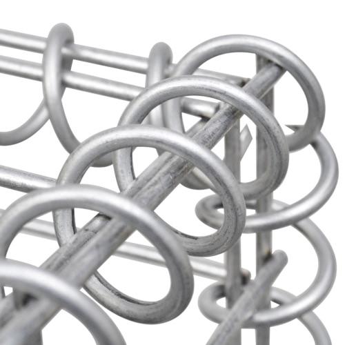 Gabion Basket Wall with Lids Galvanized Wire 100 x 100 x 30 cmTents<br>Gabion Basket Wall with Lids Galvanized Wire 100 x 100 x 30 cm<br><br>Blade Length: 1.0cm