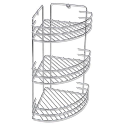 Buy Wall Mounted Metal Shower Corner Shelf 3-Tier