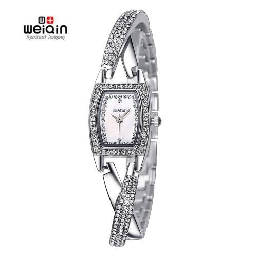 WEIQIN Womens Silvery Fashion Analog Quartz Bracelet WatchQuartz Watches<br>WEIQIN Womens Silvery Fashion Analog Quartz Bracelet Watch<br><br>Blade Length: 0.0cm