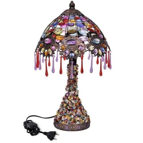 Multicolour Desk Lamp with Crystal BeadsGarden Supplies<br>Multicolour Desk Lamp with Crystal Beads<br><br>Blade Length: 1.0cm