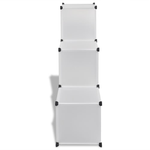 White Storage Cube Organiser with 6 Compartments 110 x 37 x 110 cmStorage &amp; Organization<br>White Storage Cube Organiser with 6 Compartments 110 x 37 x 110 cm<br><br>Blade Length: 1.0cm