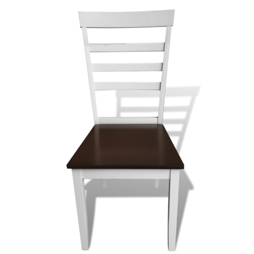 8 pcs Brown White Solid Wood Dining ChairsIndoor furniture<br>8 pcs Brown White Solid Wood Dining Chairs<br><br>Blade Length: 1.0cm