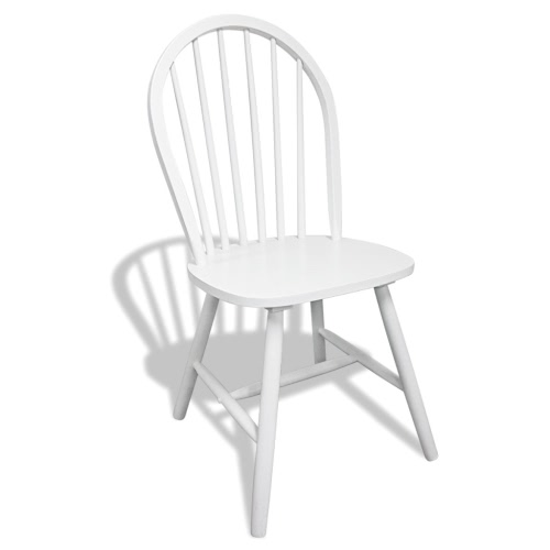 6 Wooden Dining Chairs Round WhiteIndoor furniture<br>6 Wooden Dining Chairs Round White<br><br>Blade Length: 1.0cm
