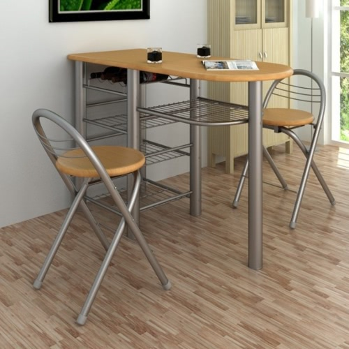 Image of Kitchen / Breakfast Bar / Table and Chairs Set Wood
