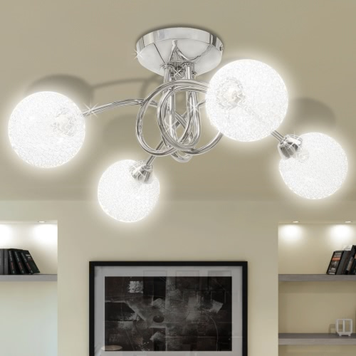 Ceiling Lamp with Mesh Wire Shades for 4 G9 BulbsGarden Supplies<br>Ceiling Lamp with Mesh Wire Shades for 4 G9 Bulbs<br><br>Blade Length: 1.0cm