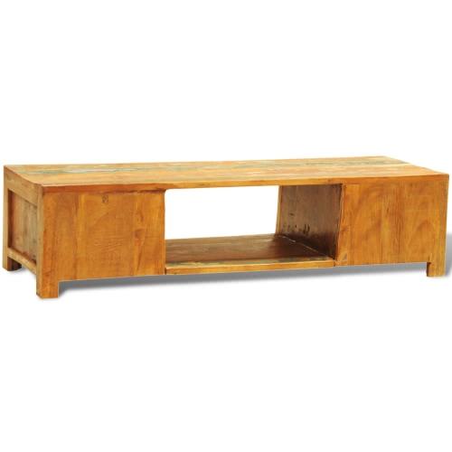 Recuperado de madeira TV Cabinet com 2 Portas Vintage Antique-style