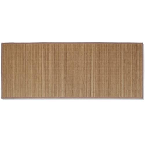 Rectangular Brown Bamboo Rug 80 x 200 cmHome Textile<br>Rectangular Brown Bamboo Rug 80 x 200 cm<br><br>Blade Length: 1.0cm