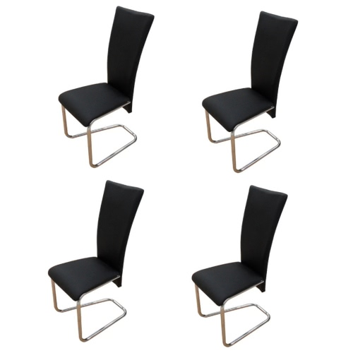 4 pcs Artificial Leather Iron Black Dining ChairIndoor furniture Set<br>4 pcs Artificial Leather Iron Black Dining Chair<br><br>Blade Length: 1.0cm
