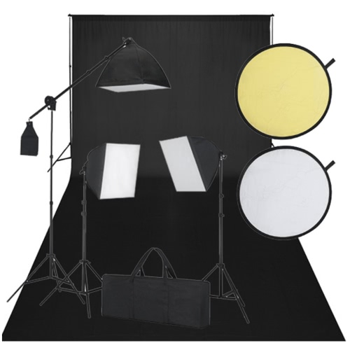 Studio Kit with Black Backdrop 3 daylight Lamps Reflector UKStudio Light Shed Kits<br>Studio Kit with Black Backdrop 3 daylight Lamps Reflector UK<br><br>Blade Length: 1.0cm