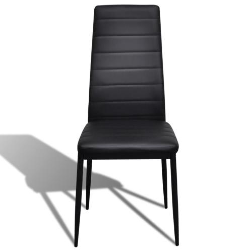 6 pcs Black Slim Line Dining ChairIndoor furniture Set<br>6 pcs Black Slim Line Dining Chair<br><br>Blade Length: 1.0cm