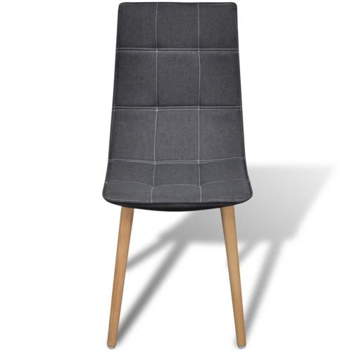 6 pcs Fabric Dining Chair Set Dark GreyIndoor furniture Set<br>6 pcs Fabric Dining Chair Set Dark Grey<br><br>Blade Length: 1.0cm