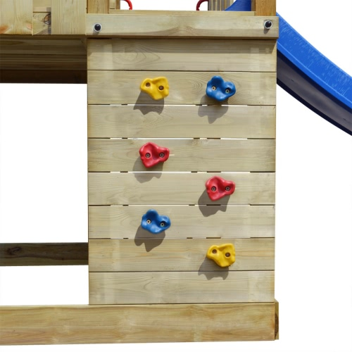 Wooden Playset with Ladder, Slide and Swings