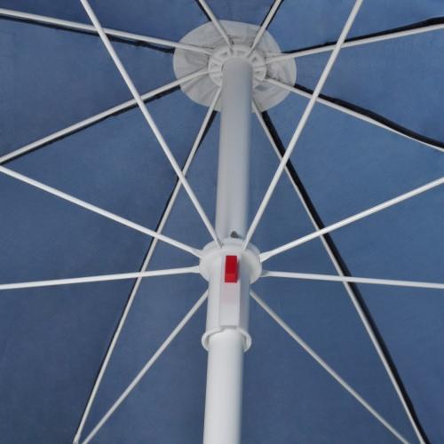 240cm Beach Umbrella Colour BlueTents<br>240cm Beach Umbrella Colour Blue<br><br>Blade Length: 1.0cm
