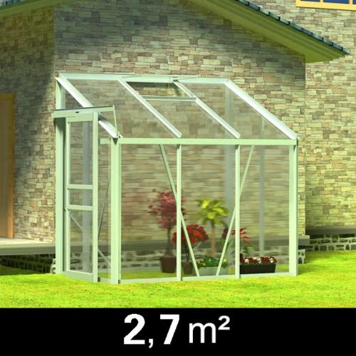 Alu greenhouse half 3 sections