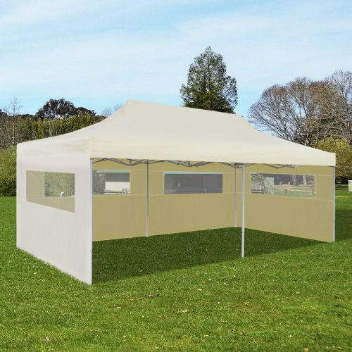 Cream Foldable Pop-up Party Tent 3 x